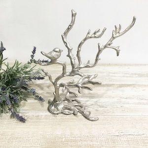 Silver Bird Jewelry Tree